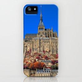 Autumn Shades of Mont Saint-Michel iPhone Case