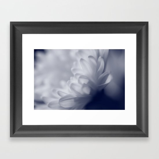 Soft White Flower Framed Art Print