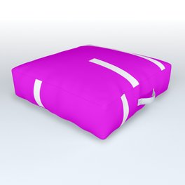 Abstract Retro Stripes Pinky Outdoor Floor Cushion