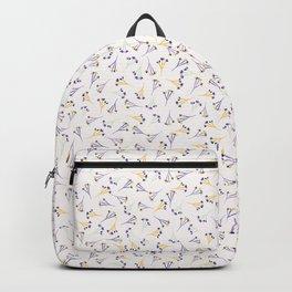 Lavender Ditsy Flower Pattern Backpack