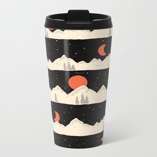 Moonrises...Moonsets... Metal Travel Mug