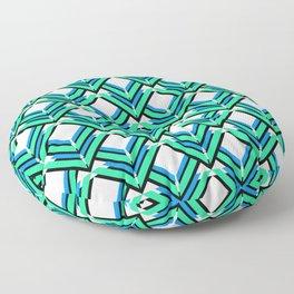 Blue Green Pattern Floor Pillow