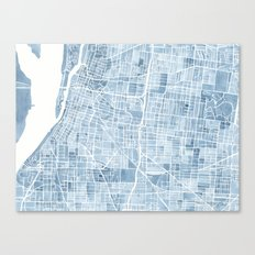 Memphis Tennessee blueprint watercolor map Canvas Print