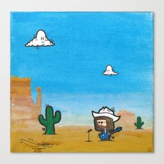Wild West Hero Canvas Print