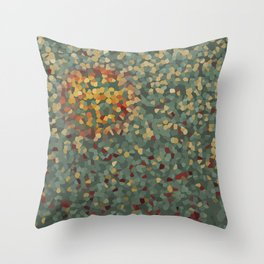 Abstract sunny landscape Throw Pillow