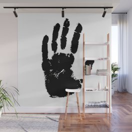 Black handprint Wall Mural