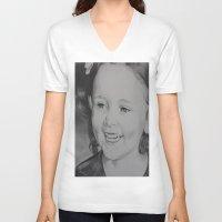 percy jackson V-neck T-shirts featuring Paris Jackson by Brooke Shane