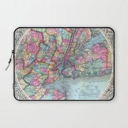 VINTAGE NEW YORK CITY MAP 1879 Laptop Sleeve