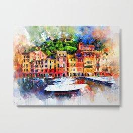 Watercolor Pier Paint Metal Print