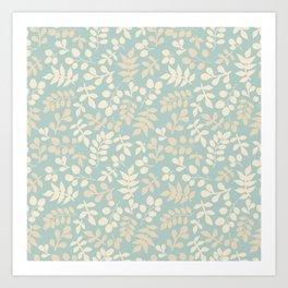 Seamless pattern on leaves theme, Autumn seamless pattern  Art Print