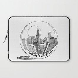 New York in a glass ball . Art . Laptop Sleeve
