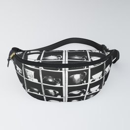 Teapots and Cups in Black and White #decor #society6 #buyart Fanny Pack