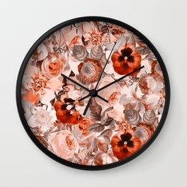 Floral Pattern III Wall Clock