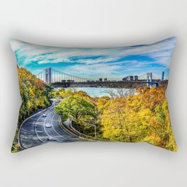 Fall along the Hudson Rectangular Pillow