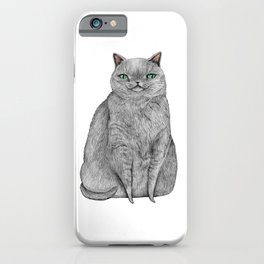 Grey Cat iPhone Case