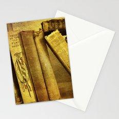 Old Books on a Shelf Stationery Cards