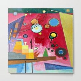 Wassily Kandinsky Heavy Red Metal Print