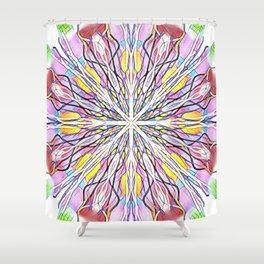 Stain Glass Kaleidoscope Shower Curtain