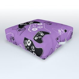 Video Game Lavender Outdoor Floor Cushion