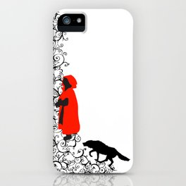 Little Red - White iPhone Case