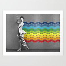 Lady rainbow Art Print