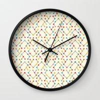 geek Wall Clocks featuring Geek by Helene Michau