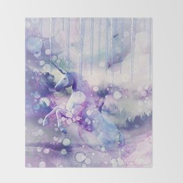 Unicorn dream b Throw Blanket