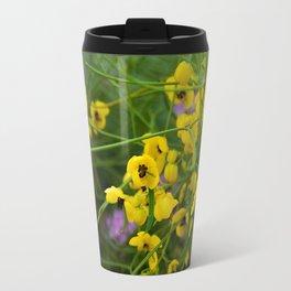 desert flowers Metal Travel Mug