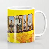 california Mugs featuring California.  by JessicaSzymanski