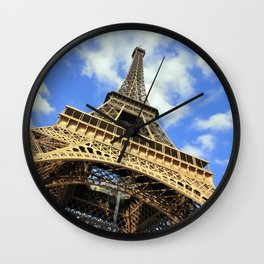 Eiffel Tower in a Sunny Morning Wall Clock
