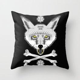 Silver Fox Geometric Throw Pillow