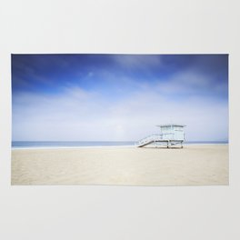 Zuma Beach Lifeguard Hut - Long Exposure Rug