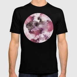 Organic Abstract in shades of plum T-shirt