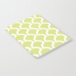 Classic Fan or Scallop Pattern 731 Chartreuse Notebook