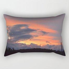Beautiful Sunset Sky Rectangular Pillow