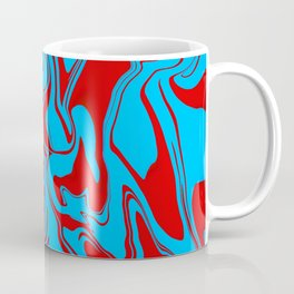 Red and Blue Oil Spill Coffee Mug