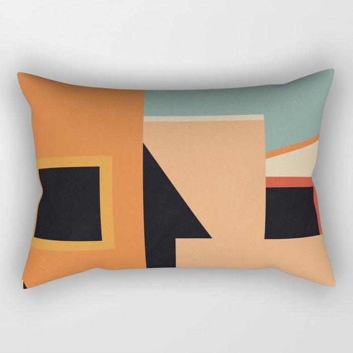 Summer Urban Landscape Rectangular Pillow