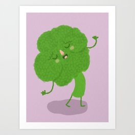 Singing Broccoli Art Print