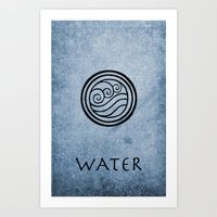 the last airbender Art Prints featuring Avatar Last Airbender - Water by bdubzgear