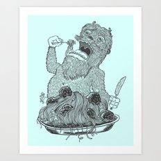 Yeti Spaghetti Art Print