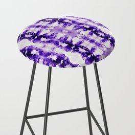 Tie Dye Purples Bar Stool