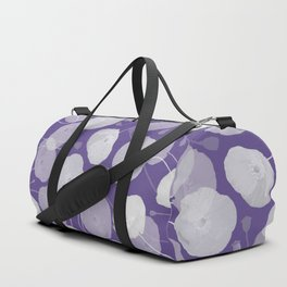 Ultra Violet Floral Abstract. Pantone Color of the Year 2018 Duffle Bag