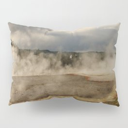A Cloud Of Steam And Water Over A Geyser Pillow Sham