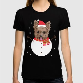 dogsnowman yorkshire T-shirt