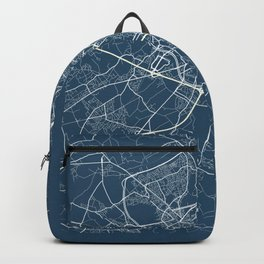 Ghent Blueprint Street Map, Ghent Colour Map Prints Backpack
