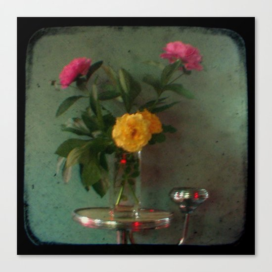 Grandma's Peonies - Through The Viewfinder (TTV) Canvas Print