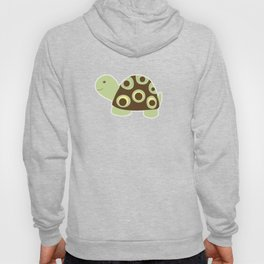 Green and Brown Mod Dot Turtle Hoody