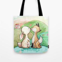 Rabbit and fox Tote Bag