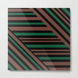Geometric pattern Striped triangles 3 Metal Print