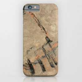 Ancient Storm Abstract In Earthtones and Copper Metallic Paint | Corbin Henry iPhone Case